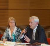 Vorsitzende Petra Müller und Landespolizeipräsident Sachsen Rainer Kann
