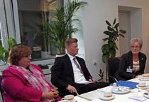 Vorsitzende AGSV Erika Ullmann-Biller mit Fraktionsmitgliedern der CDU/NRW